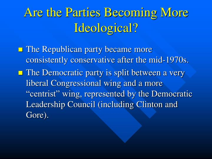 Are the Parties Becoming More Ideological?