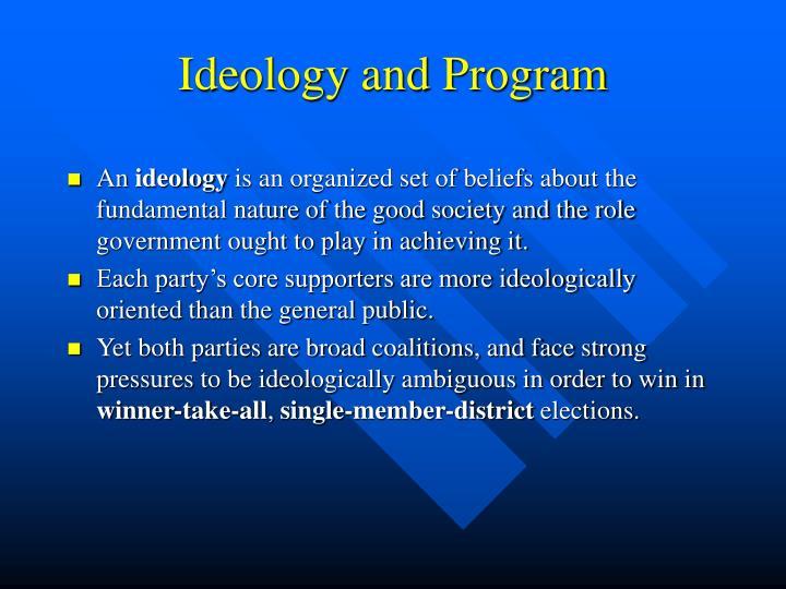 Ideology and Program