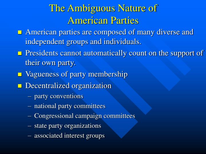 The Ambiguous Nature of