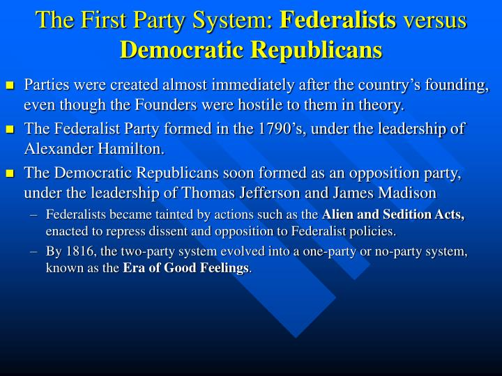 The First Party System: