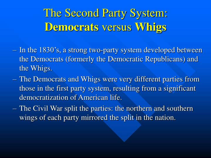The Second Party System: