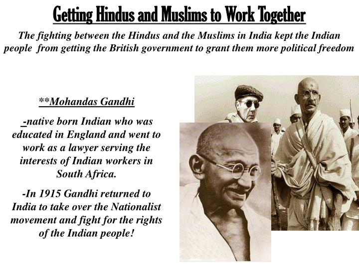 Getting Hindus and Muslims to Work Together