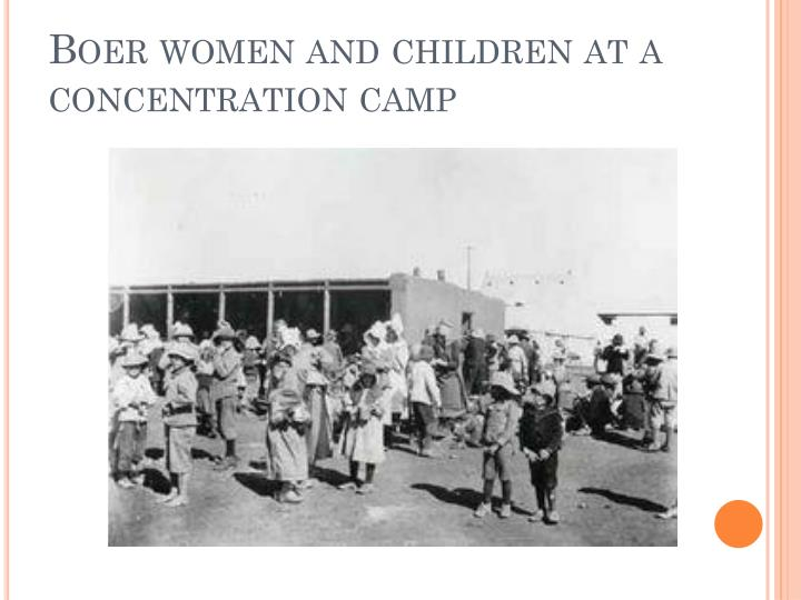 Boer women and children at a concentration camp