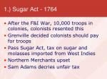 1 sugar act 1764