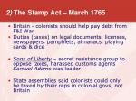 2 the stamp act march 1765