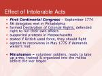 effect of intolerable acts
