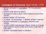 lexington concord april 19 20 1775
