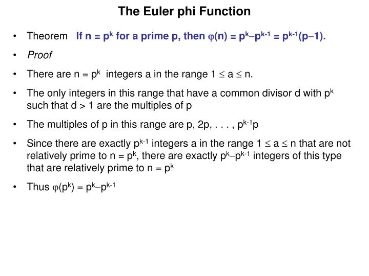 The Euler phi Function
