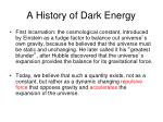 a history of dark energy