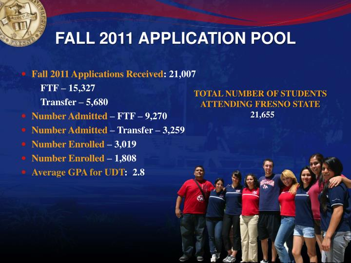 Fall 2011 application pool