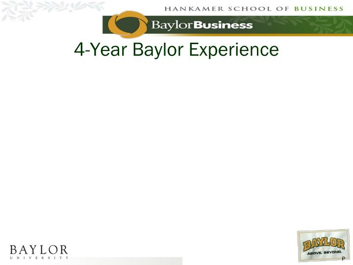 4-Year Baylor Experience