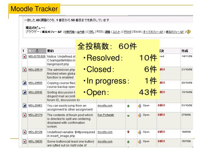 Moodle Tracker