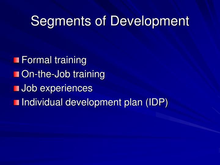 Segments of Development