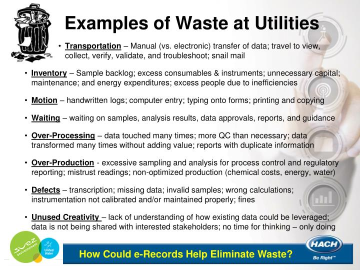 Examples of Waste at Utilities