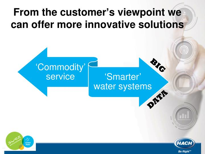 From the customer's viewpoint we can offer more innovative solutions