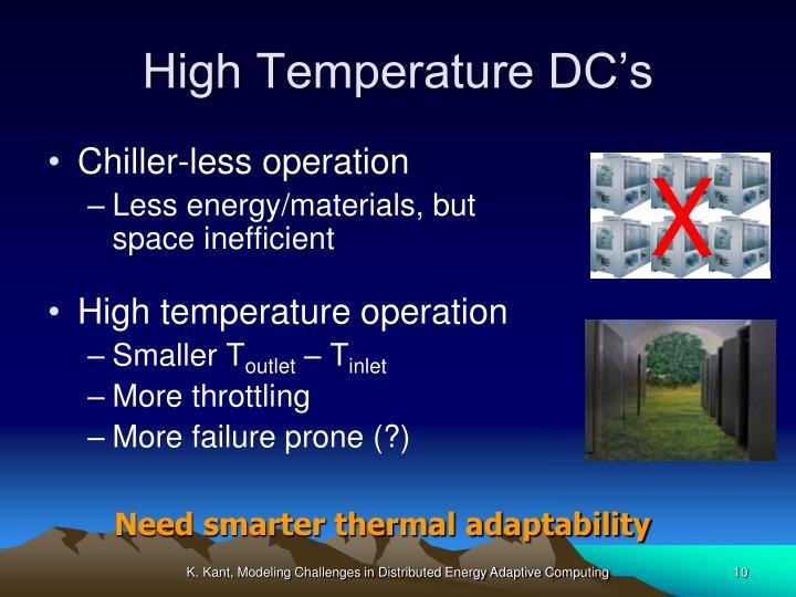 High Temperature DC's