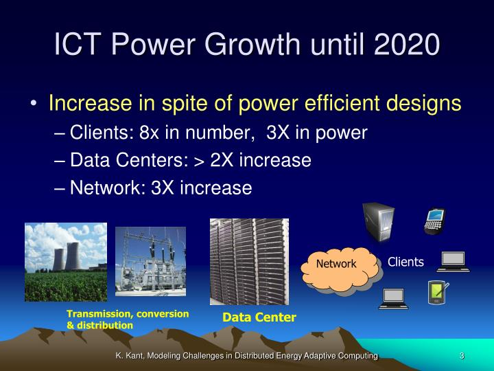 Ict power growth until 2020