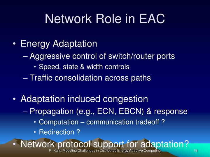 Network Role in EAC