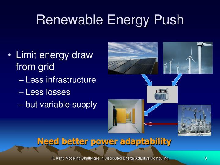 Renewable Energy Push