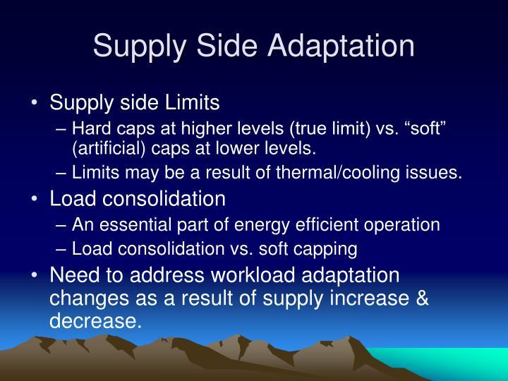Supply Side Adaptation