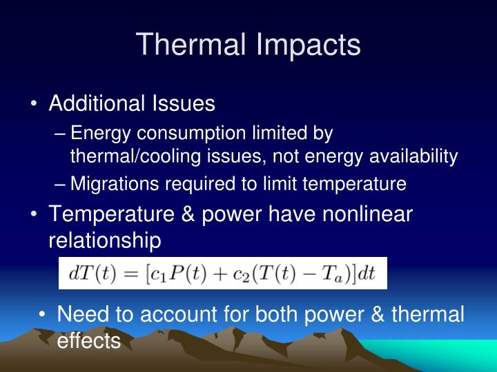 Thermal Impacts