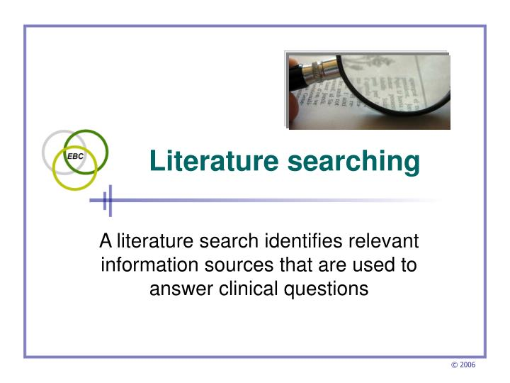 literature searching n.