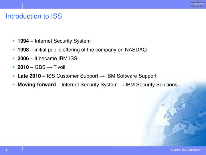 Introduction to iss