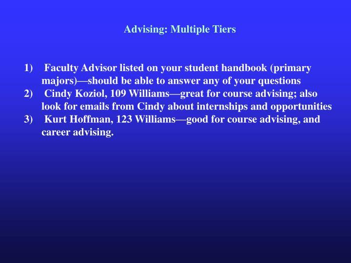 Advising: Multiple Tiers