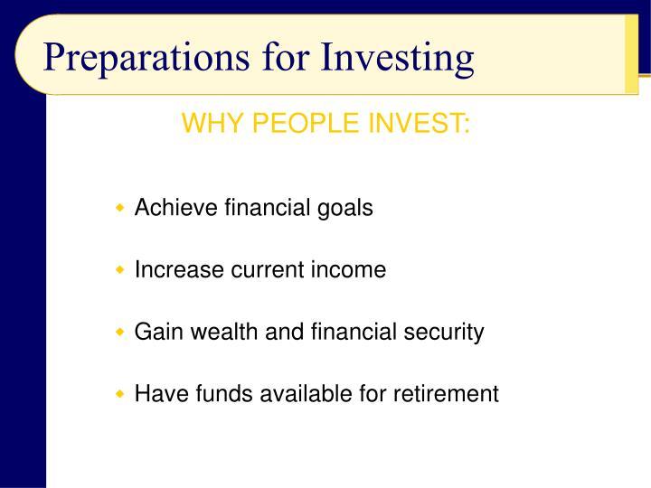 Achieve financial goals