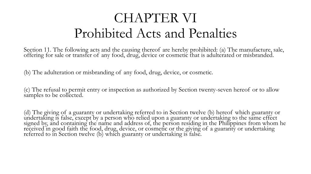 PPT - Food Drugs and Cosmetic Act (RA 3720) PowerPoint