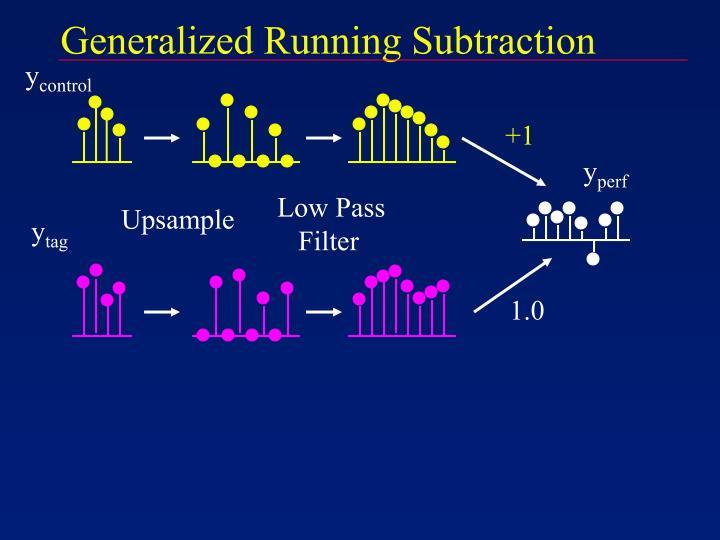 Generalized Running Subtraction
