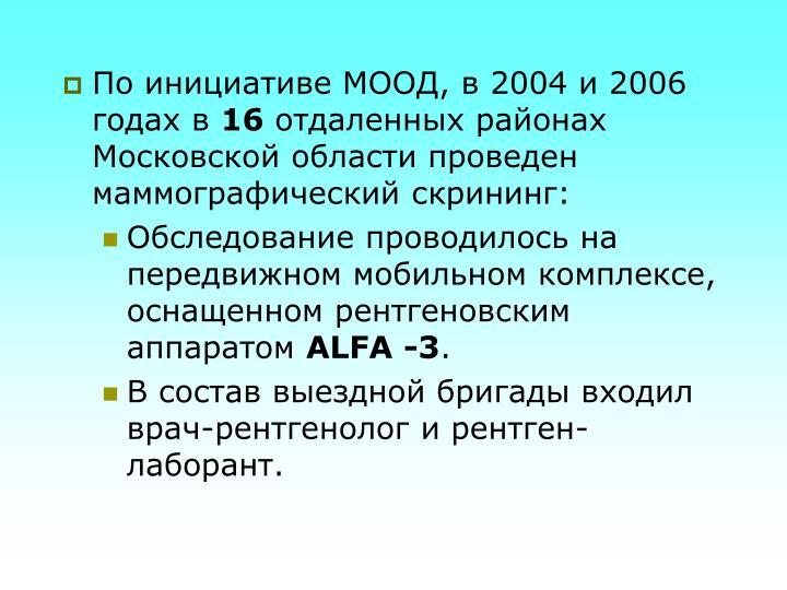 По инициативе МООД, в 2004 и 2006 годах в