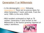 generation y or millennials