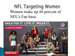 nfl targeting women