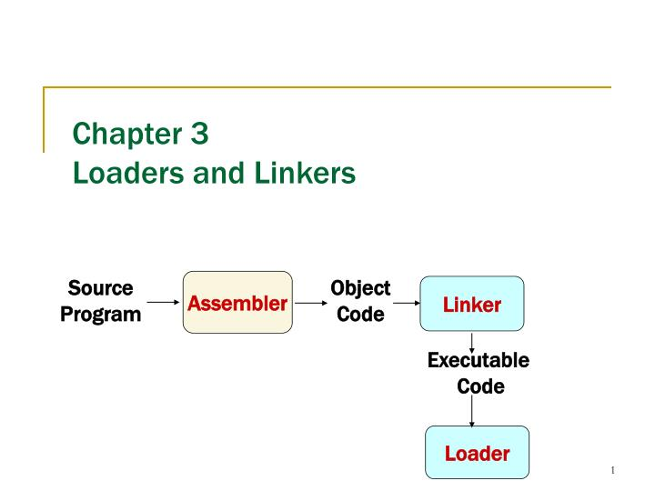 chapter 3 loaders and linkers n.