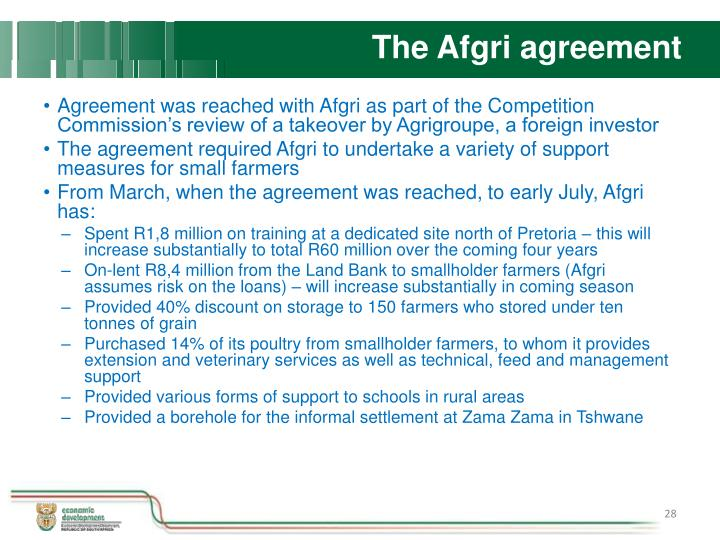 The Afgri agreement