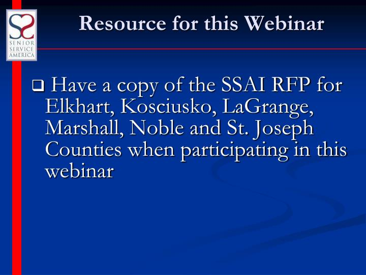 Resource for this Webinar