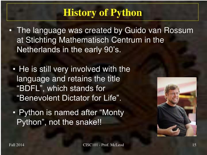 History of Python