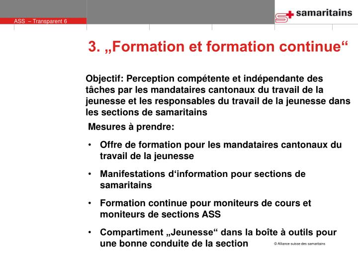 """3. """"Formation et formation continue"""""""