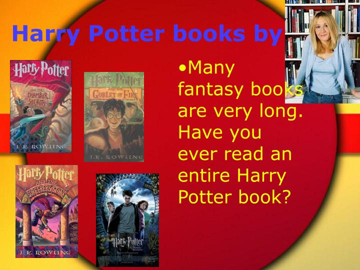 Harry Potter books by