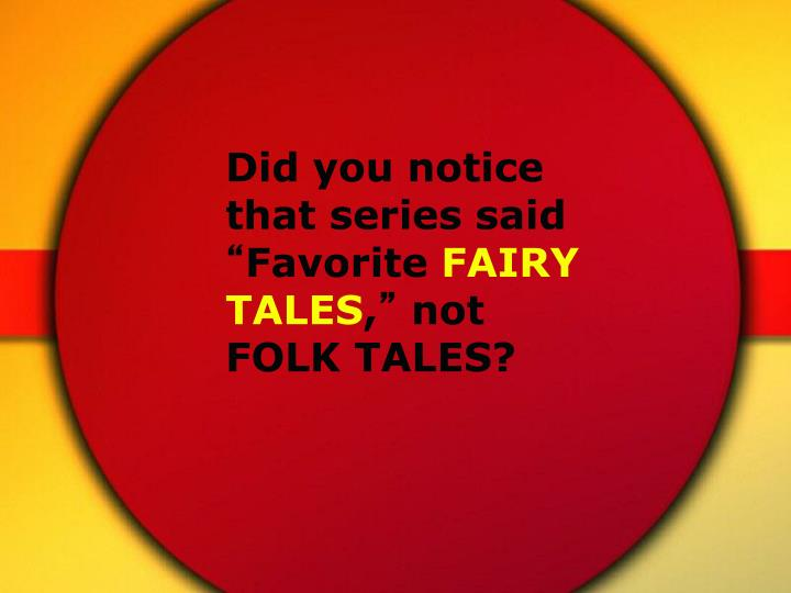 Did you notice that series said
