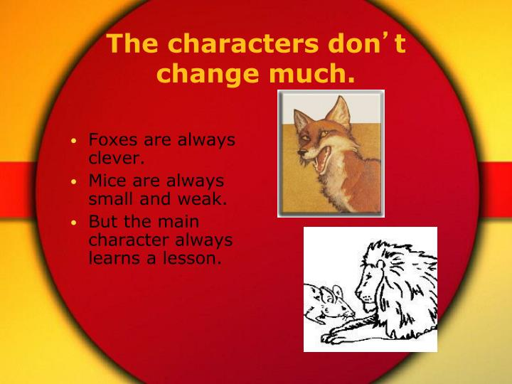 The characters don