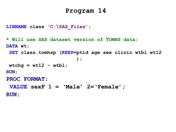 Program 14