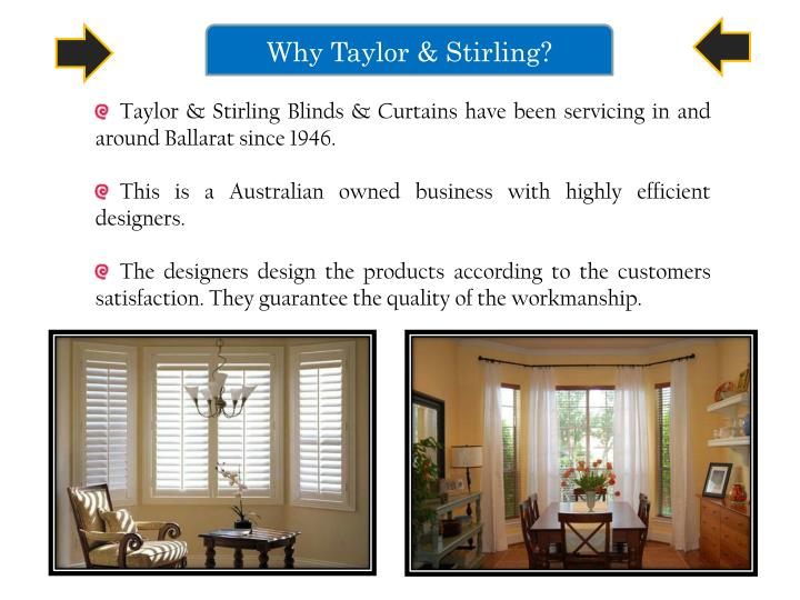 Why Taylor & Stirling?