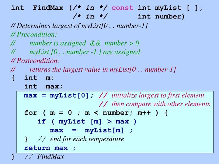 int  FindMax (