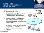 scenario intranet supporto all organizzazione e alle sedi operative