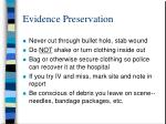 evidence preservation10