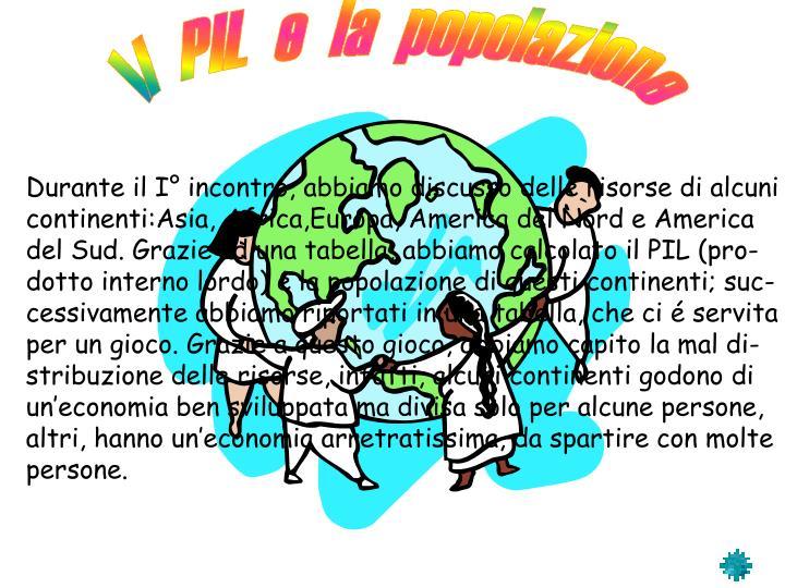 Il  PIL  e  la  popolazione