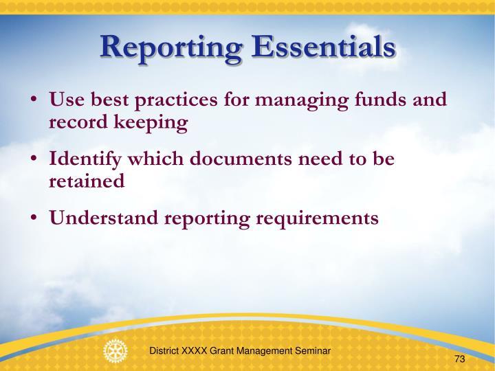 Reporting Essentials