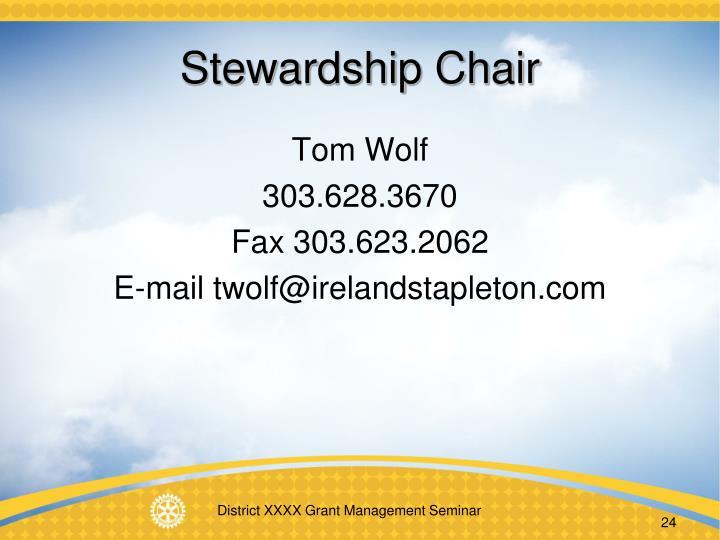 Stewardship Chair